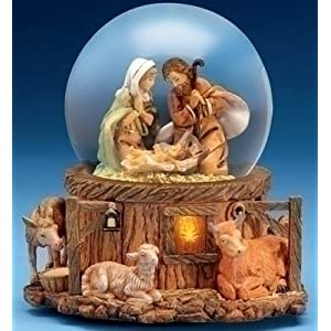 Click to buy Italian Italian Christmas decorations   : Fontanini musical lighted nativity glitterdome from Amazon!