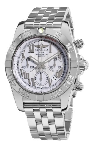Breitling Men's AB011012/A690 Chronomat B01 White Chronograph Dial Watch