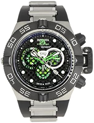 Invicta Men's 6566 Subaqua Noma IV Collection Chronograph Black Polyurethane Watch