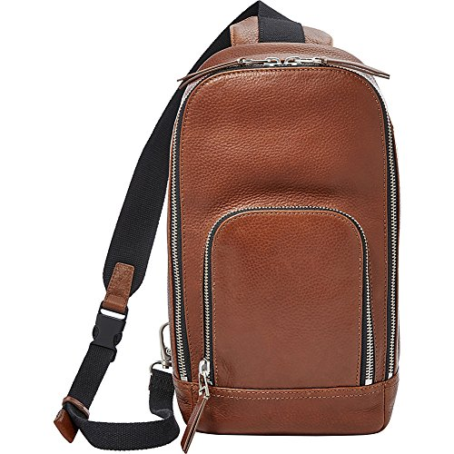 Fossil Mayfair Leather Slingpack Backpack, Cognac,