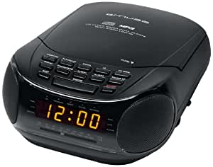 Muse M-125CRB Radio-réveil CD MP3 Double Alarme