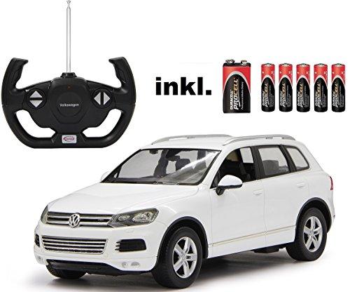 RC-VW-Touareg-V8-Wei-Mastab-114-LED-Licht-ferngesteuert-inkl-allen-Batterien-RTR-LIZENZ-NACHBAU