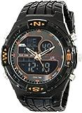 U.S. Polo Assn. Men's Analog-Digital Dial Rubber Strap Watch Black US9059