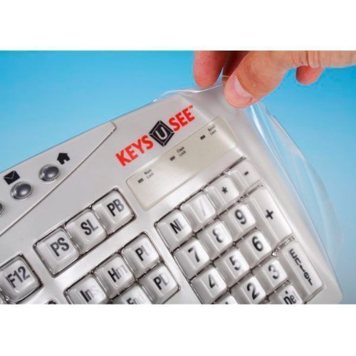Biosafe Anti Microbial Keyboard Cover For Keys U See Keyboards - Protect From Dirt, Dust, Liquids And Contaminants, Fights Microbes And Germs Which May Adhere To Typing Finger Tips - Clean Solution For Laboratories, Hospitals, And Clean Rooms - The Keyboa