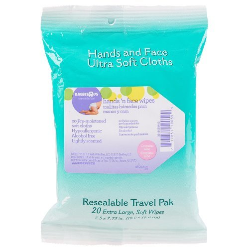 Babies R Us Hands 'n' Face Wipes Travel Pak 20 Count - 1