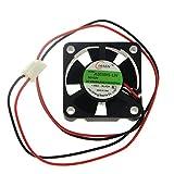 Lenx 3010 Dc12v Quiet Brushless Cooling Fan Miniature Cooling Fans 2pin 30x30mm 5 Blade (3 PCS)