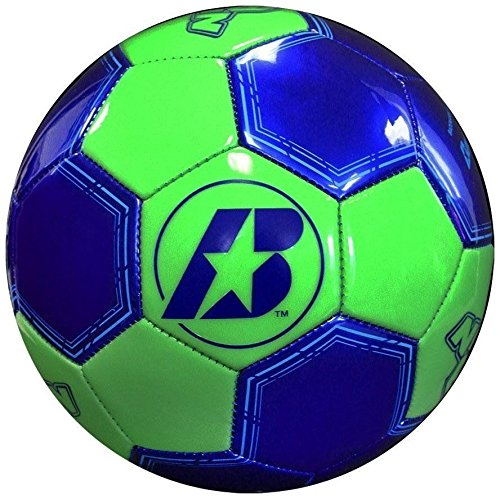 Baden Nite Brite Glow In Dark Soccer Ball Offical Size 4 Needle Blue (Nite Brite Football compare prices)