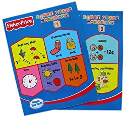 Fisher-Price 2pc First Grade Workbooks - 1st Grade WorkBooks Vol 1 & 2 (2pcs)