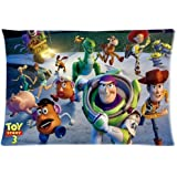 Toy Story family Custom Rectangle Zippered Pillow Cases 20x30 Inch (Twin Sides)
