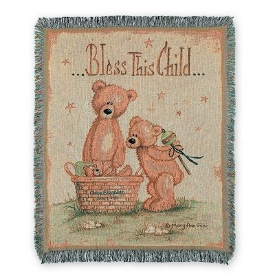 Personalized, Embroidered Blessed Baby Blanket front-377820