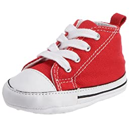 Converse Baby Boy\'s Chuck Taylor First Star HI (Infant) - Red - 3 Infant