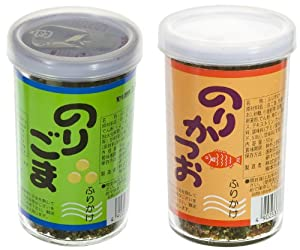 Seaweed & Sesame Japanese Furikake Seasoning Compound 2-Bottle Bundle (Japanese Import) [JN-ICNI]