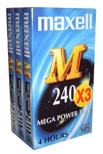 Maxell Cassette vidéo M240 Pack 3