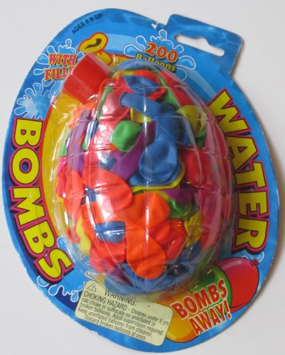 200 Water Balloon Bombs with Nozzle