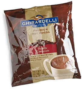 Ghirardelli Chocolate Premium Hot Cocoa Mix, Double Chocolate, 32-Ounce Packages (Pack of 2)