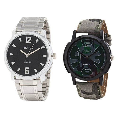 Relish Analog Round Casual Wear Watches For Men Combo - B01ANCDIMG