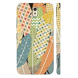 Enthopia Designer Hardshell Case Prints on Feathers Back Cover for Lenovo Vibe P1M