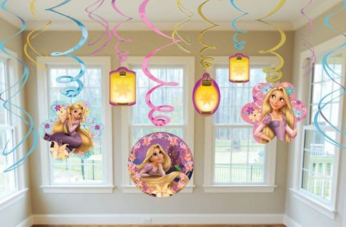 Disney Tangled Hanging Swirl Birthday Party Decorations - 12 Pieces