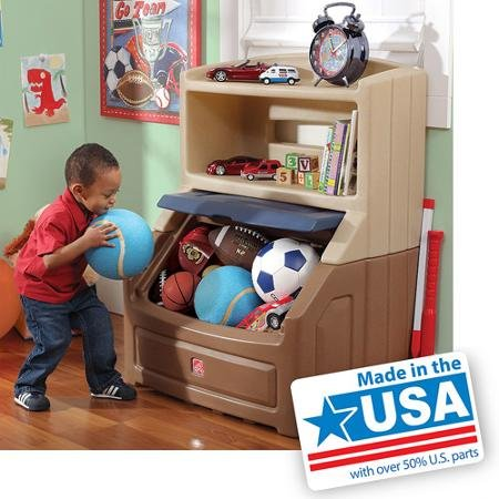 Step2 Lift & Hide Bookcase Storage Chest, Best Kids Toy Box