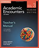 img - for Academic Encounters Level 3 Teacher's Manual Reading and Writing: Life in Society by Williams Jessica Brown Kristine Hood Sue (2012-10-08) Paperback book / textbook / text book