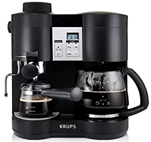 KRUPS XP160050 Coffee Maker and Espresso Machine Combination, Black by KRUPS