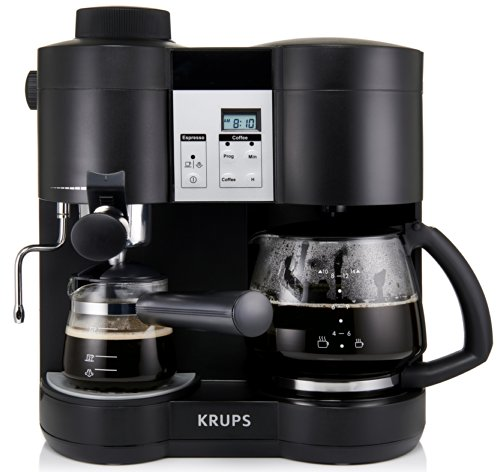 Cheap KRUPS XP1600 Coffee Maker and Espresso Machine Combination, Black