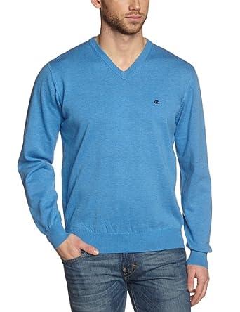 CASAMODA Herren Pullover 004130/100, Einfarbig, Gr. Small, Blau (hellblau 100)