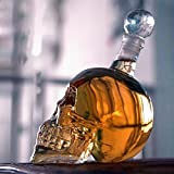 Skull Whiskey Decanter for Spirits, Whiskey or Wine - Personalized carafe - Perfect Gift Set for Men, Dad, Fathers & Groomsmen - 500ml