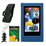 5 Items Premium Accessory Bundle Combo For Samsung YP-P3 MP3 Player (8GB, 16GB) Series Combo Pack Includes: Blue Silicone Skin Case + Screen Protector + Armband + Belt Clip + one Fishbone style Keychain ~ TPA STORE