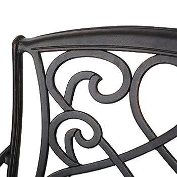Paris Outdoor 3pc Copper Cast Aluminum Bistro Set