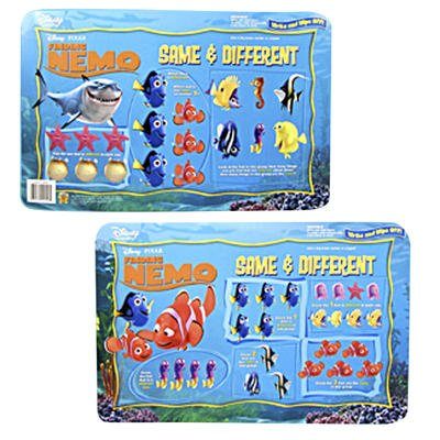 "Disney FINDING NEMO Write On/Wipe Off ReUsable DRY ERASE ACTIVITY BOARD Placemat (11"" x 17"") - 1"