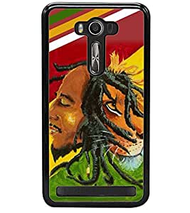 printtech Bob Marley Lion Back Case Cover for Asus Zenfone 2 Laser ZE550KL , Asus Zenfone 2 Laser ZE550KL (5.5 Inches)