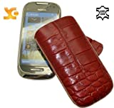Suncase Leather Case for Nokia C7-00 Crocodile Red
