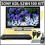 Sony Bravia W-Series KDL-52W4100 52-inch 1080P LCD HDTV + Sony DVD Player Accessory Kit