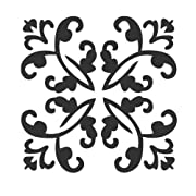 J BOUTIQUE STENCILS Damask Wall Stencil - Medium Size - Reusable Stencil for Home DIY decor FAUX MURAL V0002