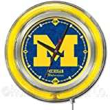 Michigan Wolverines NCAA Deluxe Neon Clock