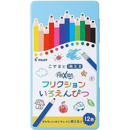 PILOT friction 지워지는 색연필 12 색세트 블루