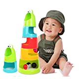 "Fun To Play ""PIGLOO"" Brand Froggie Stack And Drop Ball Game For Small Children - Includes 2 Rattle And 1 Light-Up..."