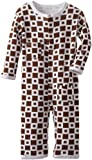 L'ovedbaby Unisex-Baby Infant Long Sleeve Overall, Miles Of Tiles Brown, 6-9 Months