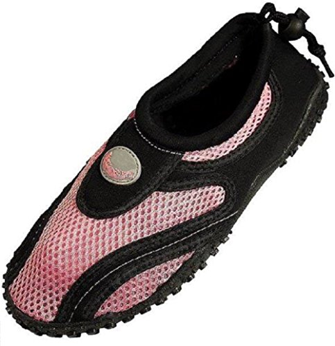 AimTrend Children's Water Shoes Aqua Pool Socks Black-Pink-2 (Water Shoes Girls compare prices)