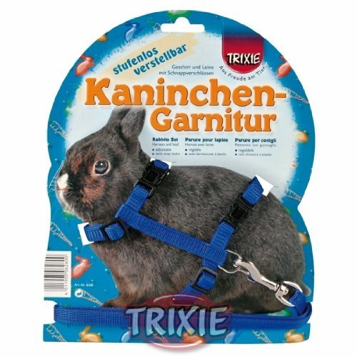 Trixie-Plain-Rabbit-Walking-Harness-Lead-Set-Pet-Toys-Accessories-Outdoor