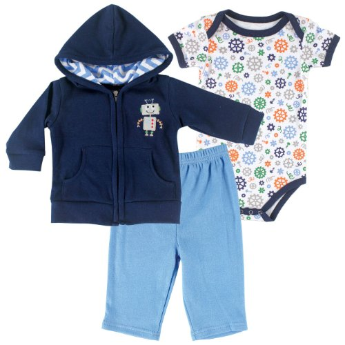 Hudson Baby Robot Hoodie, Pants & Bodysuit, Robot, 6-9 Months (Infant Robot Clothes compare prices)