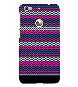 PrintVisa Cute Chevron Pattern 3D Hard Polycarbonate Designer Back Case Cover for LeEco Le 1S