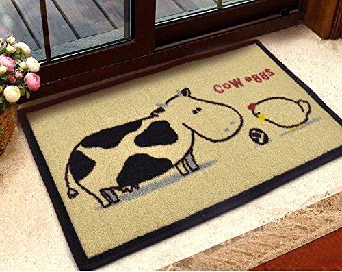 Cow and eggs Door Mat Kitchen Bathroom Mat Carpet Bath Mats
