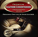 Leather Conditioner - THE BEST Leather Restorer & Protector for Cars, Leather Furniture, Shoes, Boots, Purses, Jackets, Sofa, Couch, Seats, Saddles & More - Antibacterial Cleaner Added - 8 Oz Cream - Bonus Applicator Cloth - 100% GUARANTEED!