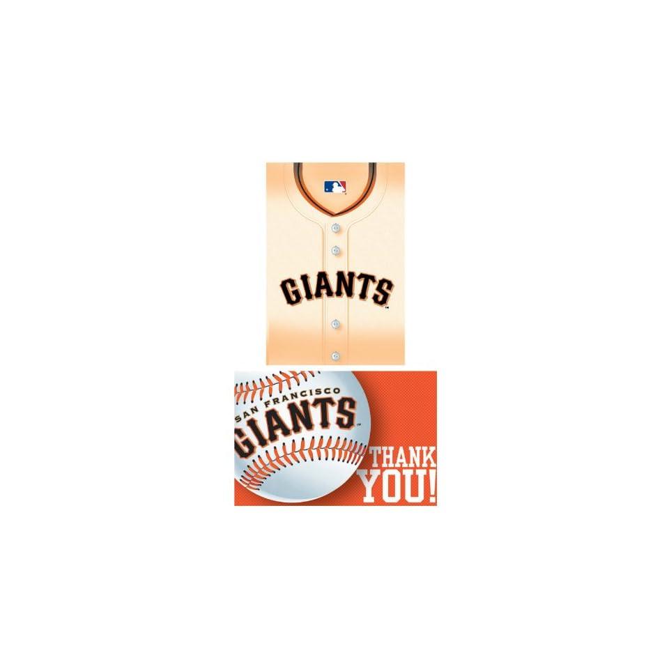 Francisco Giants Baseball   Invite & Thank You Combo