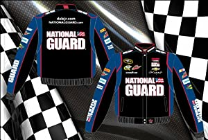 Dale Earnhardt Jr. National Guard Mens Black Twill Nascar Jacket by JH Design by J.H. Design