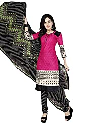 Minu Suits Cotton Unstiched Dress Material New Pink