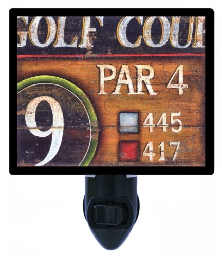 Golf Night Light - Par 4 - Golf Course Sign Led Night Light front-1070223