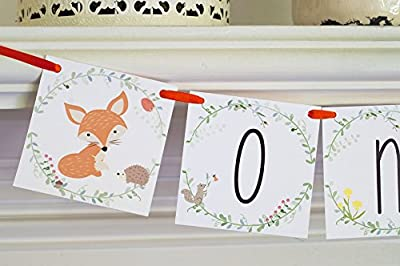 Fox First Birthday Highchair Banner